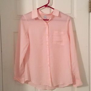 Old Navy Pink button down blouse