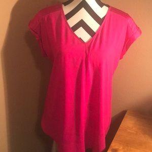 Pink dressy top