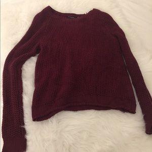 Brandy Melville Burgundy knit sweater
