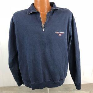 Vtg Ralph Lauren Polo Sport 1/4 Zip Sweatshirt