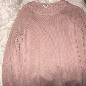 light pink long sleeve sweater from garage