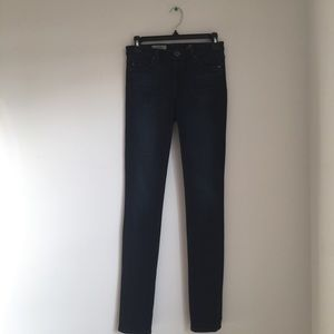 AG middi mid rise Legging skinny dark wash jeans