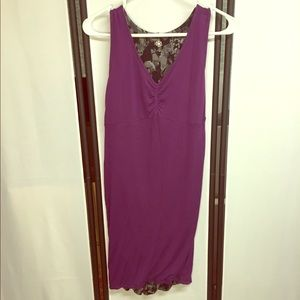 Athleta Gray/Purple Reversible Bubble Tank Dress