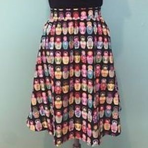 Retrolicious ModCloth Russian Doll Skirt 1X XL L