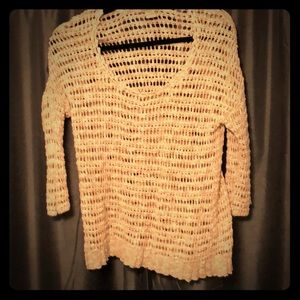 Lucky brand open knit sweater