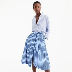J. Crew Button-front striped skirt