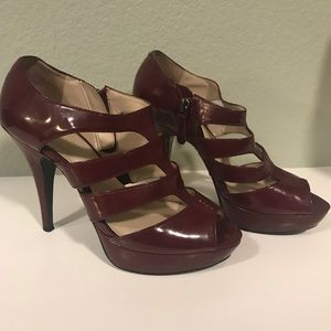 Burgundy Nine West heels