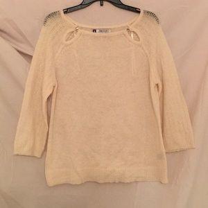 Cream two jeweled sweater