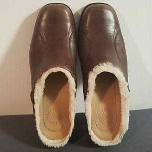 UGG Brown Langford Clogs Mules Size 8 #5744