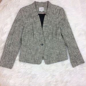 LOFT Stretch Cotton Tweed Jacket Blazer Size 10P