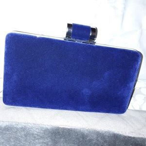 Velvety Feel Blue Clutch