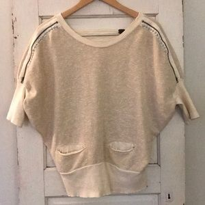 EUC Women's Free People 3/4 sleeve top