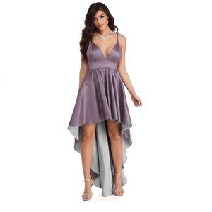 Lavender high low dress