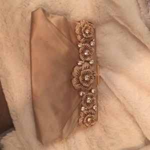 Champagne color Valentino evening bag
