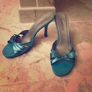 BCBGirls turquoise heels