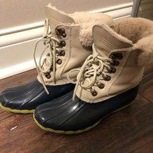 Sperry for J Crew size 7 duck boots Ltd edition!