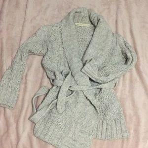 Kimono wrap knit sweater