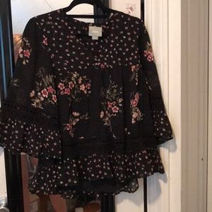 New Anthropologie floral blouse