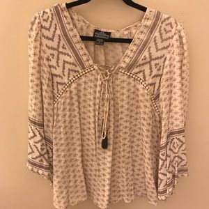 PacSun- Patterned Bohemian Shirt