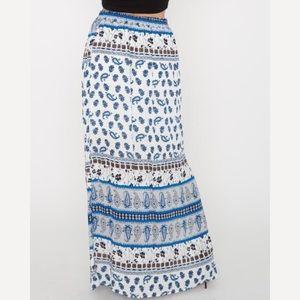 Dresses & Skirts - Printed maxi skirt. Blue, black, & white 💙💙