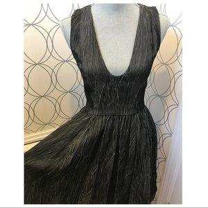 💯 Armani Exchange Fit & Flare Low Cut Dress