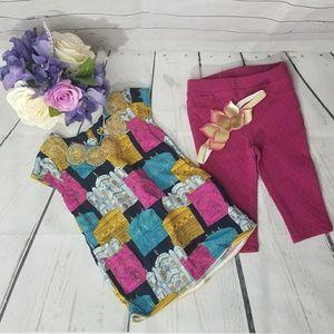 🌈Baby Girls Oshkosh Bgosh Tunic and pant set