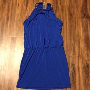 Mini royal blue body con dress!