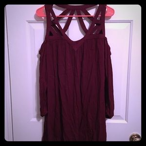 Maroon trapeze dress XL