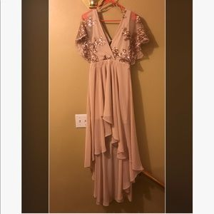 Rose gold/nude sequin dress! NWT