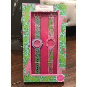 """Lilly Pulitzer """"Later Gator"""" Interchangeable Watch"""