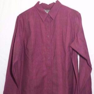 Columbia Sportswear Co. Button Down Maroon Blouse