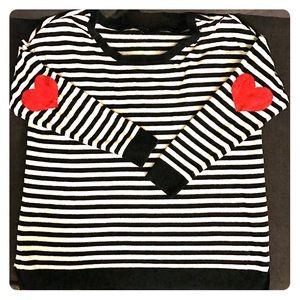 Torrid Stripped Lightweight Sweater W/ ❤ elbows