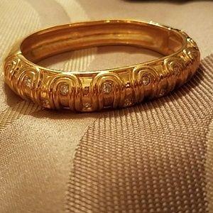 Swarovski Crystal Gold Bangle