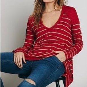 Free People red sunset park thermal