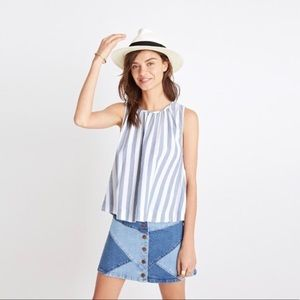 Madewell striped button back sleeveless top
