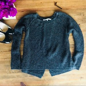 RACHEL Rachel Roy Black Glitter Sweater Size S