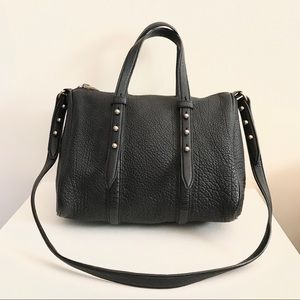 ❤️ALEXANDER WANG❤️Black Leather Speedy Boston Bag