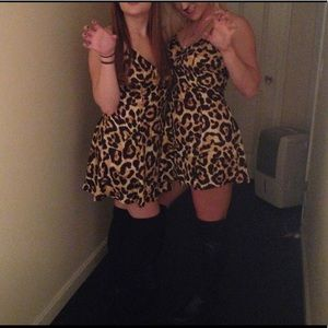 Animal Print Tobi Minidress
