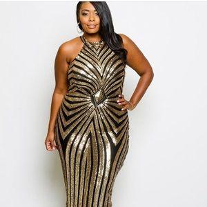 ''Tis the season - Plus Size Sequins Maxi Dress