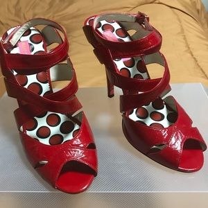 Betsey Johnson Red Patent Leather Shoes 9M