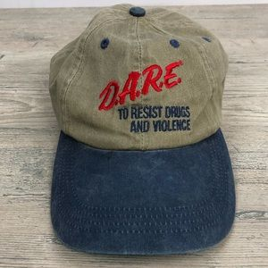 Vtg D.A.R.E to Resist Drugs and Violence Hat Cap