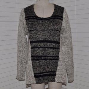 INDIGO Marled Knit Hi-Low Tunic Sweater [A5]