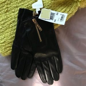 MK real leather gloves