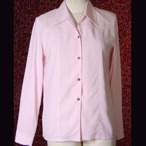 ARDOISE MONTREAL VINTAGE 80's pink blouse P/S