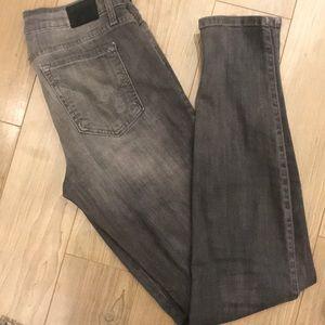 Bebe black grey faded skinny jeans size 28