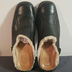 UGG Black Langford Clogs Mules Size 8  #5744