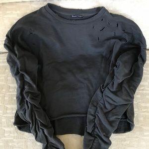Zara cropped grey sweater