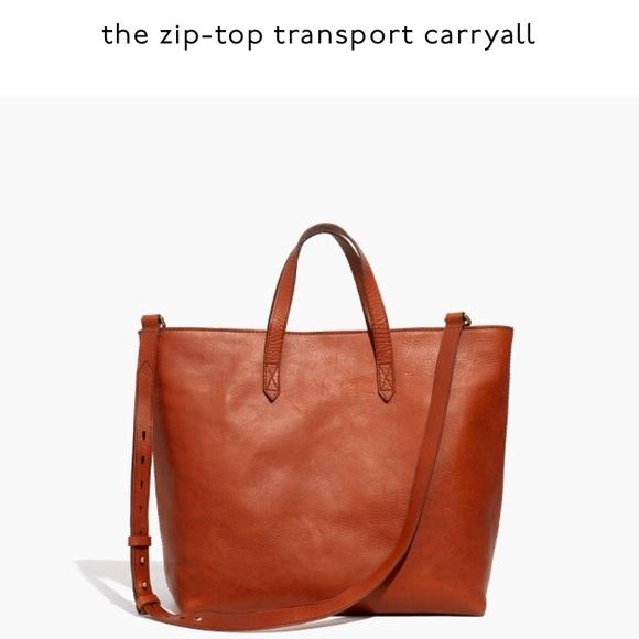 8c09e56916b1 Madewell Handbags - Zip-Top transport carryall bag by Madewell