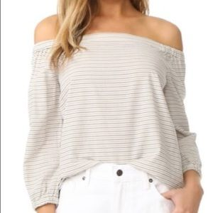 NWT Madewell Jardin off the Shoulder Blouse