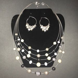 Necklace and earrings set—perfect condition